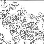Hitoe-giku - jednoduchá chryzantéma - vzor používaný již v období Heian