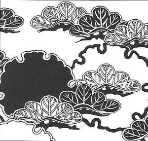 Kasa-matsu - deštníkovitě rozložené větve borovice